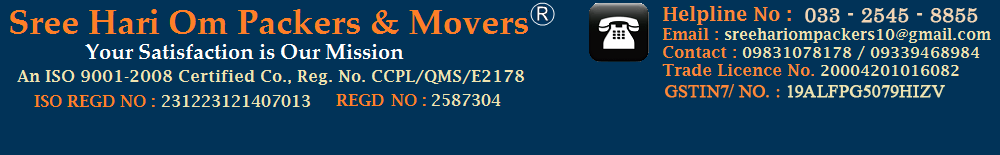 Sree Hari Om Packers and Movers Kolkata.  Call us : +91 9339468984